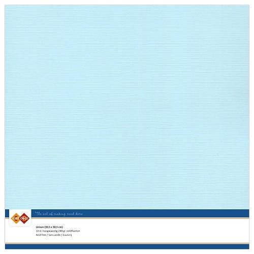Linnenkarton - 30.5 x 30.5 - Baby blauw