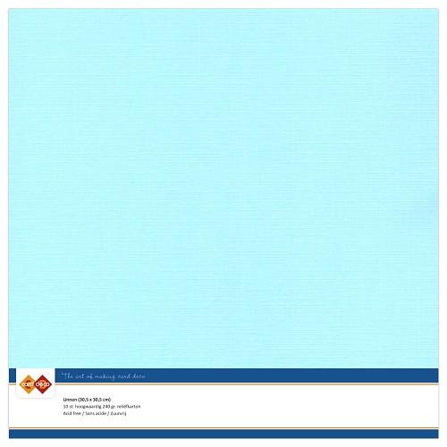 Linnenkarton - 30.5 x 30.5 - Licht blauw