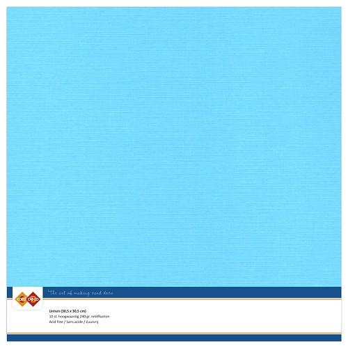 Linnenkarton - 30.5 x 30.5 - Hemels blauw