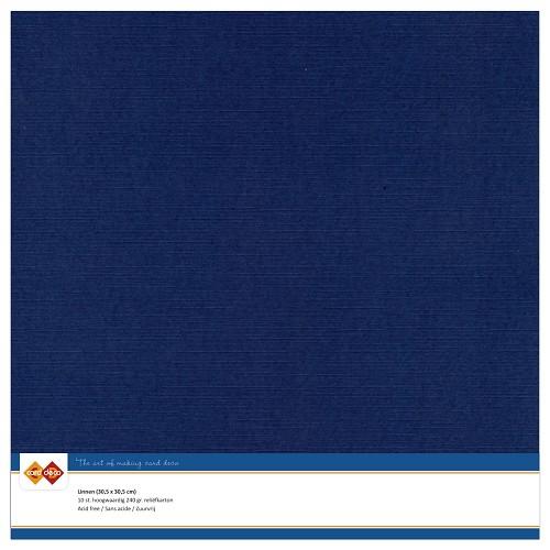 Linnenkarton - 30.5 x 30.5 - Donker blauw