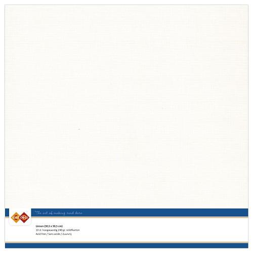 Linnenkarton - 30.5 x 30.5 - Gebroken wit