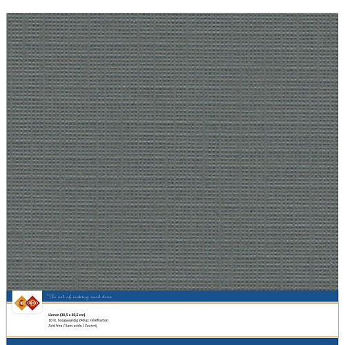 Linnenkarton - 30.5 x 30.5 - Donker grijs