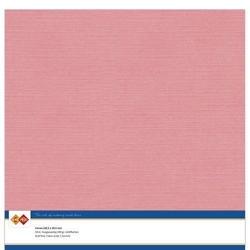 Linnenkarton - 30.5 x 30.5 - Oud Roze