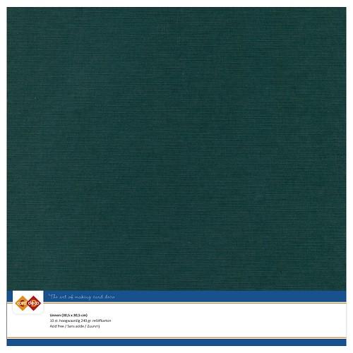 Linnenkarton - 30.5 x 30.5 - Jade