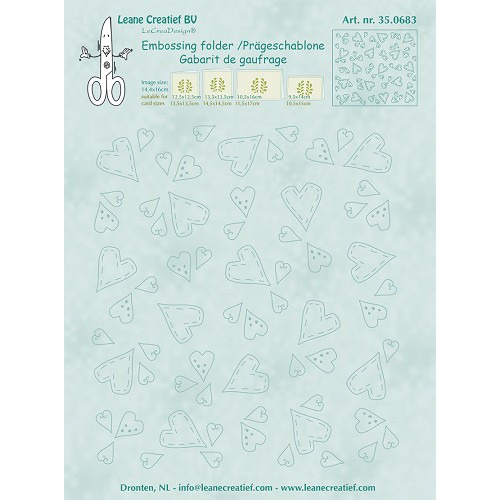 Embossing folder Hearts 14.4x16cm