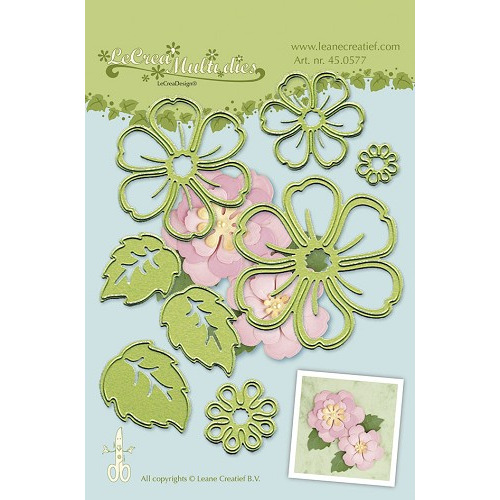 45.0577 Lea'bilitie® Multi die flower 008 blossom snij en embossing mal