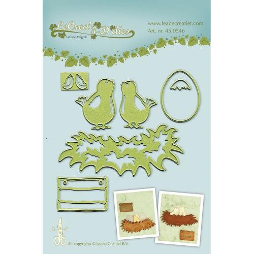 Lea'bilitie® Young birds snij en embossing mal