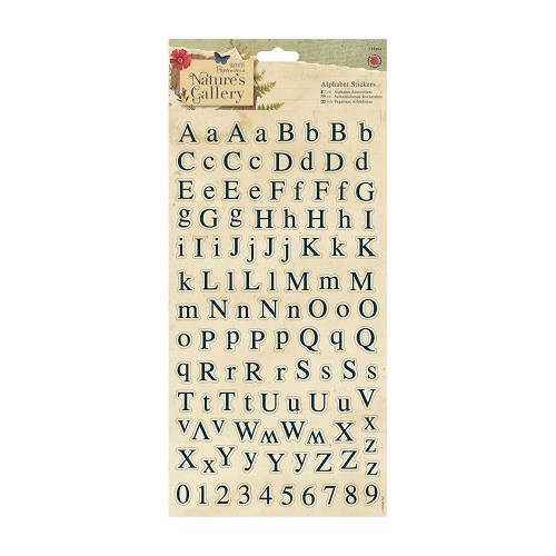 Alphabet Stickers (114pcs) - Nature`s Gallery