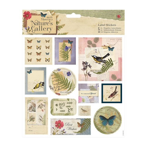 8 x 8 Label Stickers (12pcs) - Nature`s Gallery