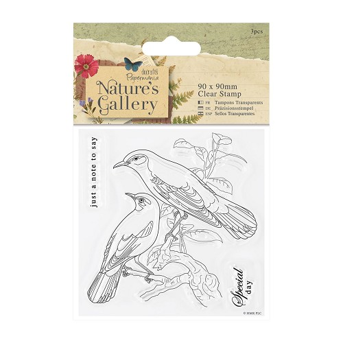 90 x 90mm Clear Stamp - Nature`s Gallery