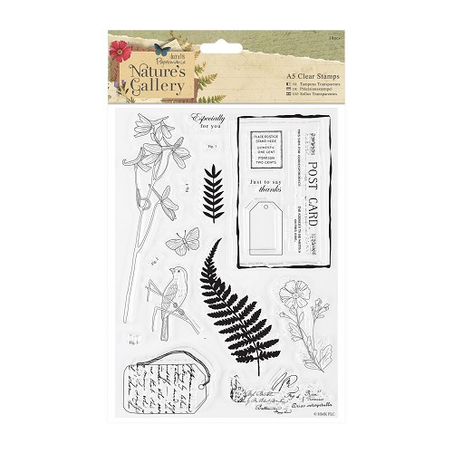 A5 Clear Stamps Set (18pcs) - Nature`s Gallery