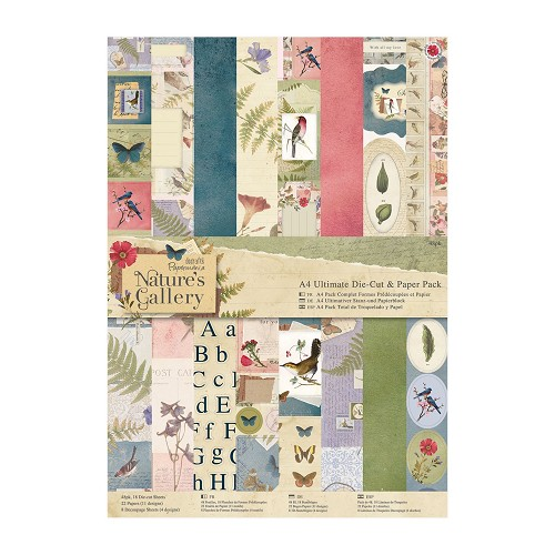 A4 Ultimate Die-cut & Paper Pack (48pk) - Nature`s Gallery