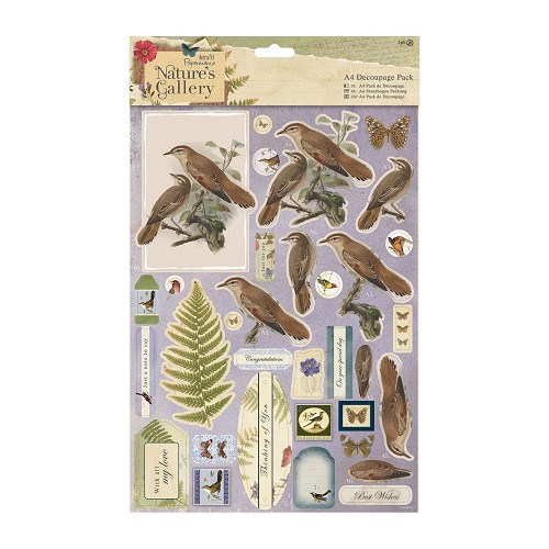 A4 Decoupage Pack - Nature`s Gallery - Birds