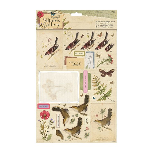 A4 Decoupage Pack - Nature`s Gallery - Collage