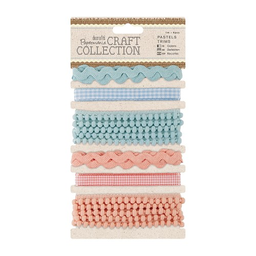 1m Trims (6pcs) - Craft Collection - Pastels