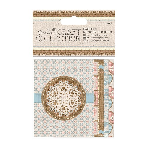 Memory Pockets (5pcs) - Craft Collection - Pastels