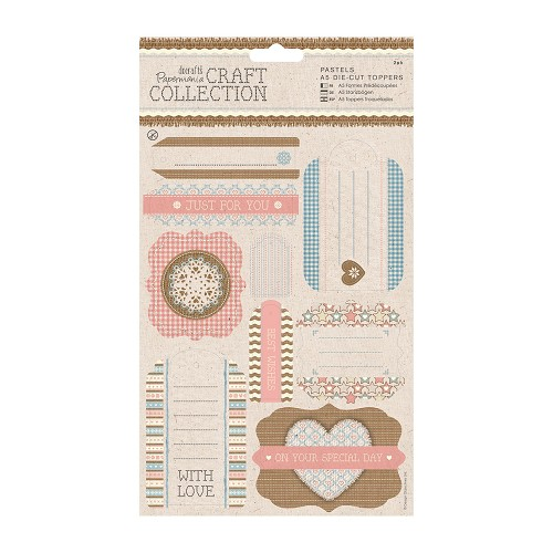 A5 Die-cut Toppers (2pk) - Craft Collection - Pastels