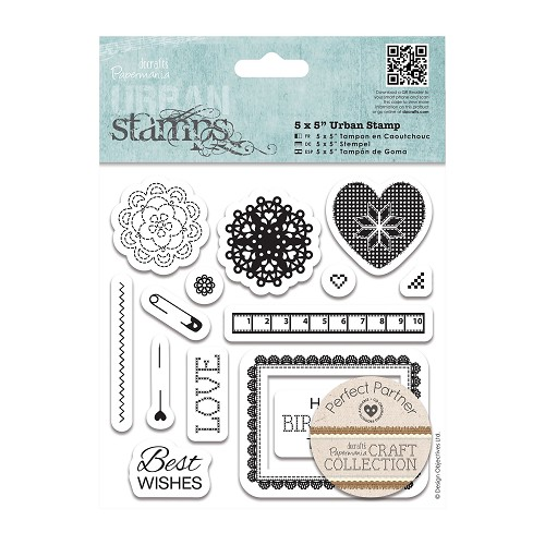 5 x 5 Urban Stamp (14pcs) - Craft Collection - Pastels