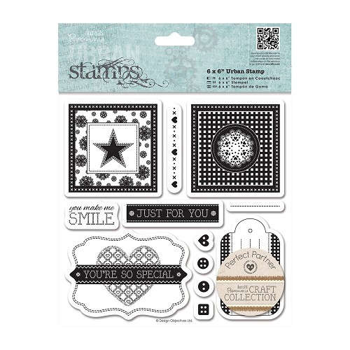 6 x 6 Urban Stamps (12pcs) - Craft Collection - Pastels