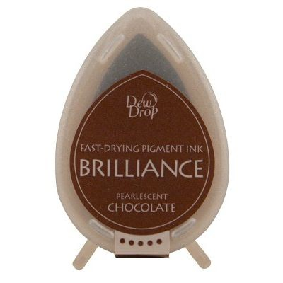Brilliance Dew Drops inkpads Pearlescent Chocolate