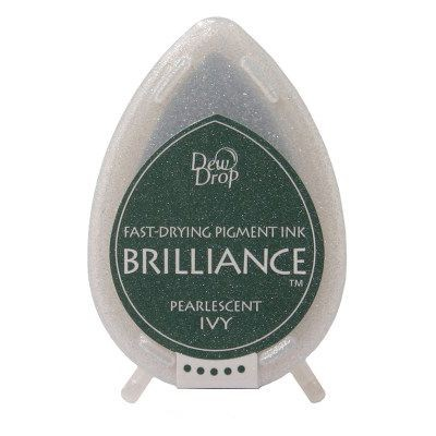 Brilliance Dew Drops inkpads Pearlescent Ivy