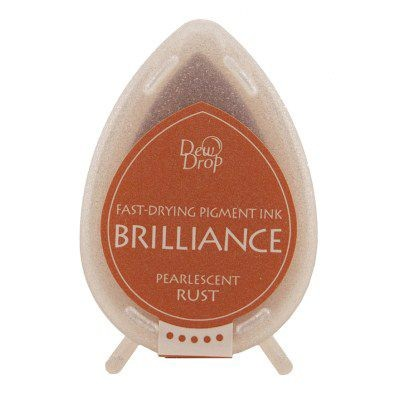 Brilliance Dew Drops inkpads Pearlescent Rust