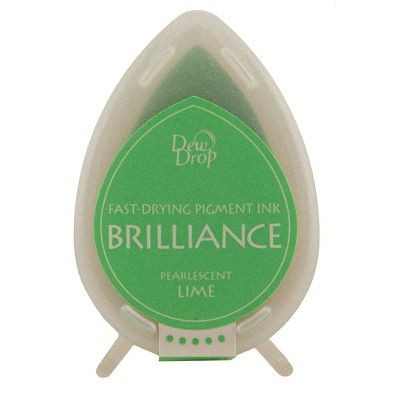 Brilliance Dew Drops inkpads Pearlescent Lime