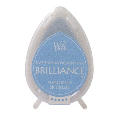 Brilliance Dew Drops inkpads Pearlescent Sky blue