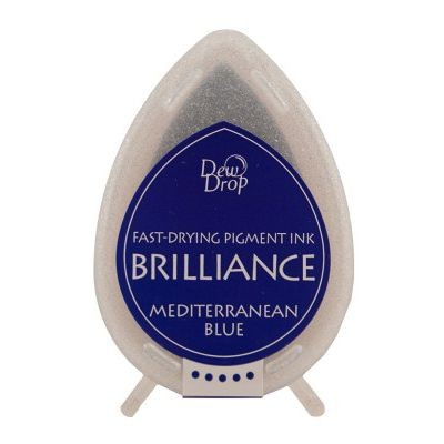 Brilliance Dew Drops inkpads Mediterremian blue