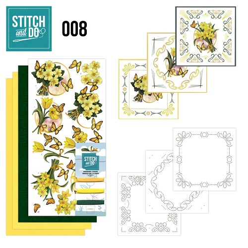 Stitch and Do 8 - Gele bloemen