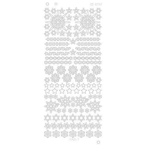 Various Stars Snowflake Platinum - Goud
