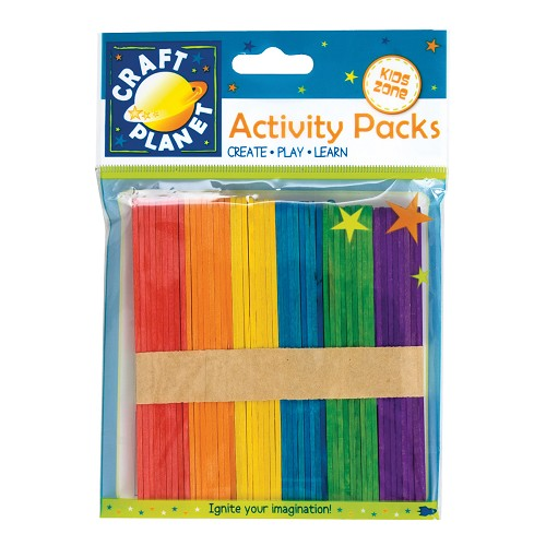 Lollipop Sticks (50pcs) - Assorted Colours