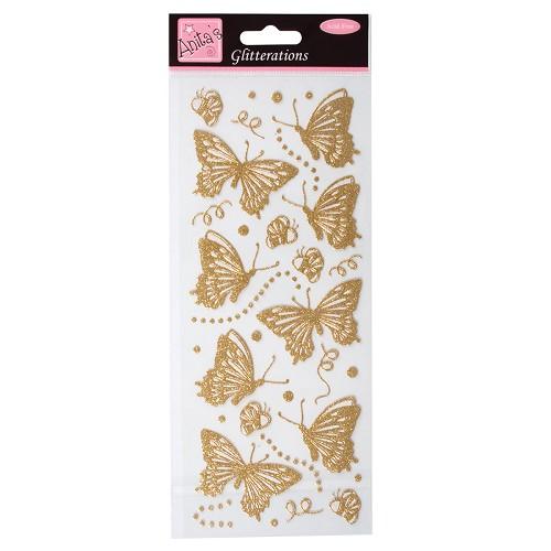 Glitterations - Butterflies - Gold