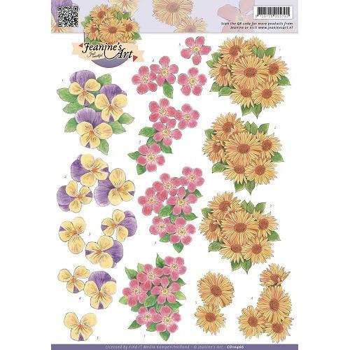 3D Knipvel - Jeanines Art - Flowers