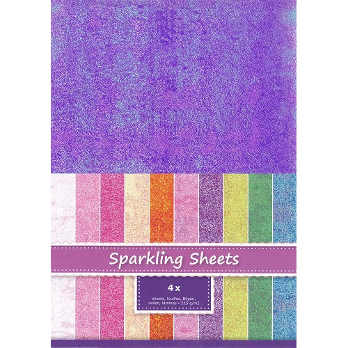 Sparkling Sheets Purple 4 sheets A4