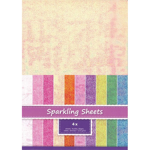 Sparkling Sheets Daffodil, 4 sheets A4