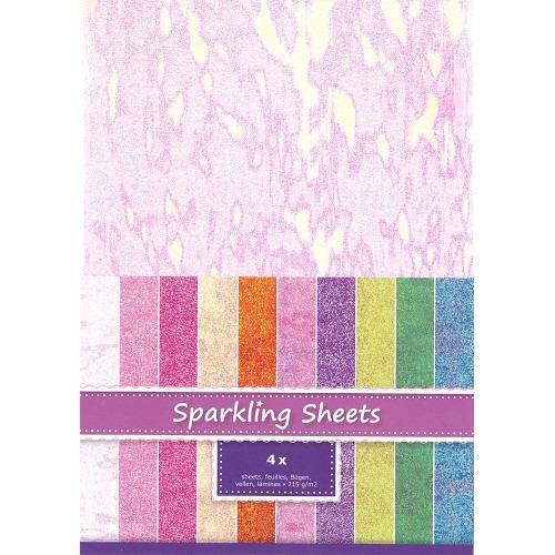 Sparkling Sheets Seashell, 4 sheets A4