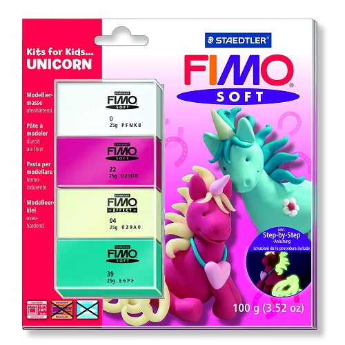 Fimo soft set - Kits for Kids Eenhoorn