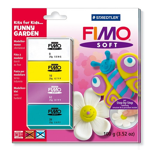 Fimo soft set - Kits for Kids Funny garden