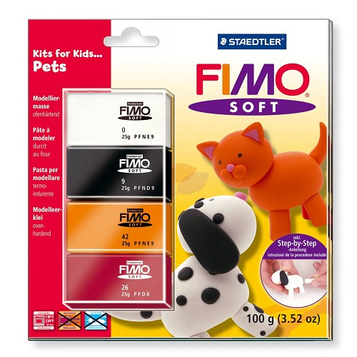 Fimo soft set - Kits for Kids Huisdieren