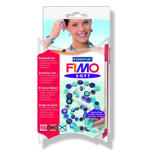 Fimo soft set - juwelenset Knotted dots