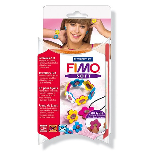 Fimo soft set - juwelenset Flowers