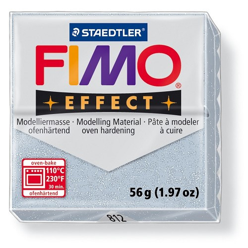 Fimo effect boetseerklei 56 g metallic zilver