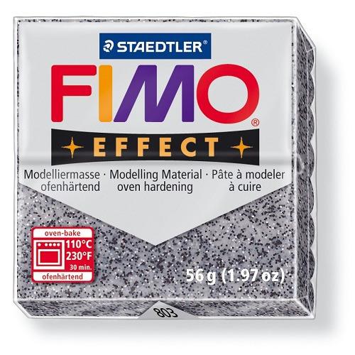 Fimo effect boetseerklei 56 g graniet grijs