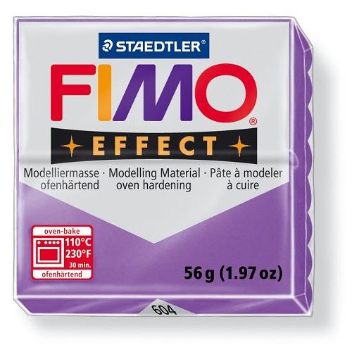 Fimo effect boetseerklei 56 g transparant lila