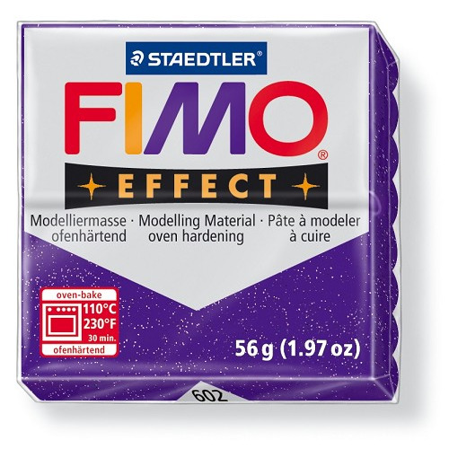 Fimo effect boetseerklei 56 g metallic lila
