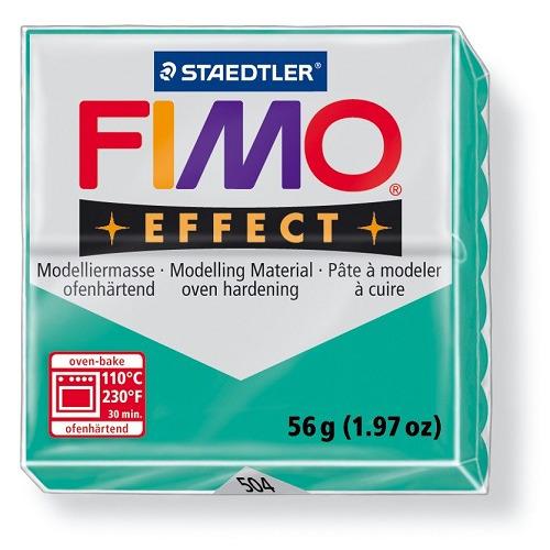 Fimo effect boetseerklei 56 g transparant groen