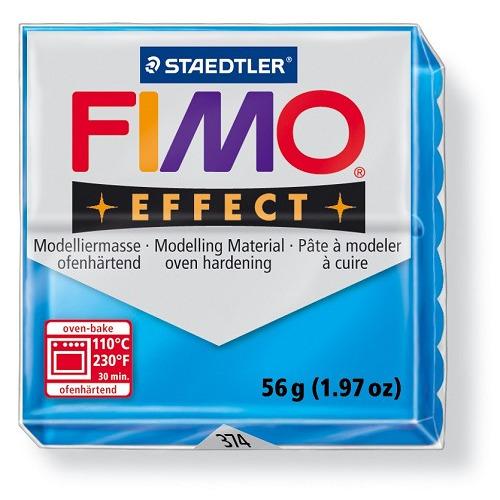 Fimo effect boetseerklei 56 g transparant blauw