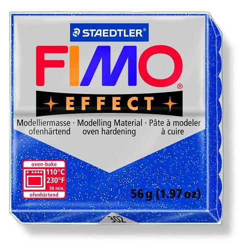 Fimo effect boetseerklei 56 g metallic blauw