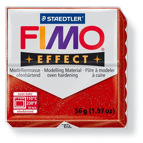 Fimo effect boetseerklei 56 g metallic rood